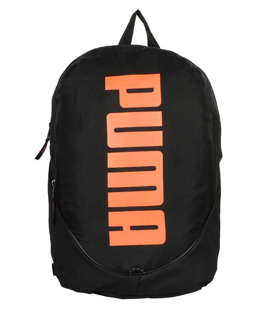 a3d3a002d3 Puma Pioneer Black and Orange Unisex Backpack - Buy Puma Pioneer Black and  Orange Unisex Backpack Online at Best Prices in India on Snapdeal