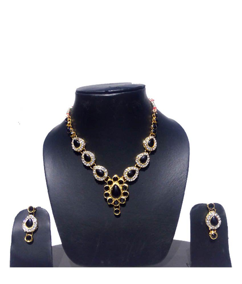 Royalminchem Antique Black Contemporary Necklace Set