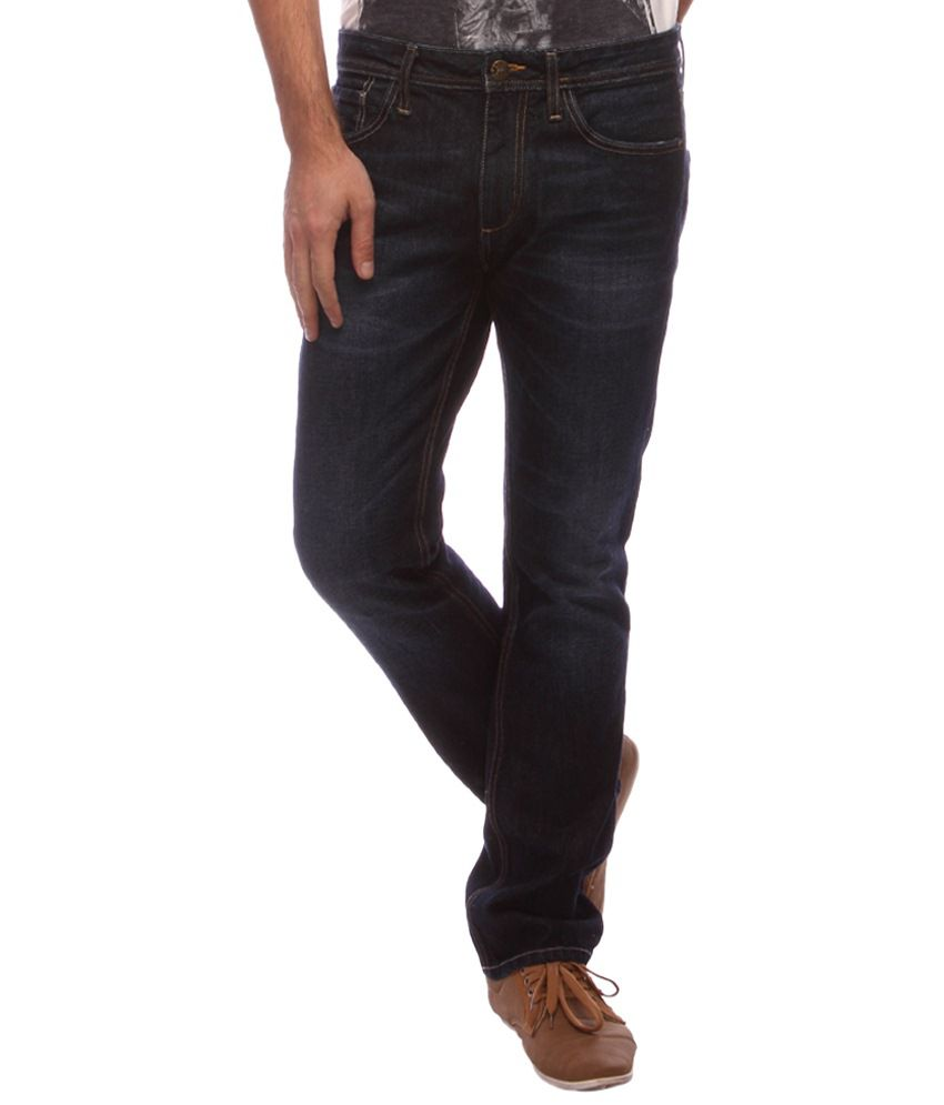 Slub Stretchable Black Slim Fit Jeans