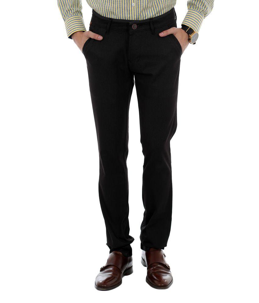 Unison Slim Fit Casual Trouser- Dark Grey