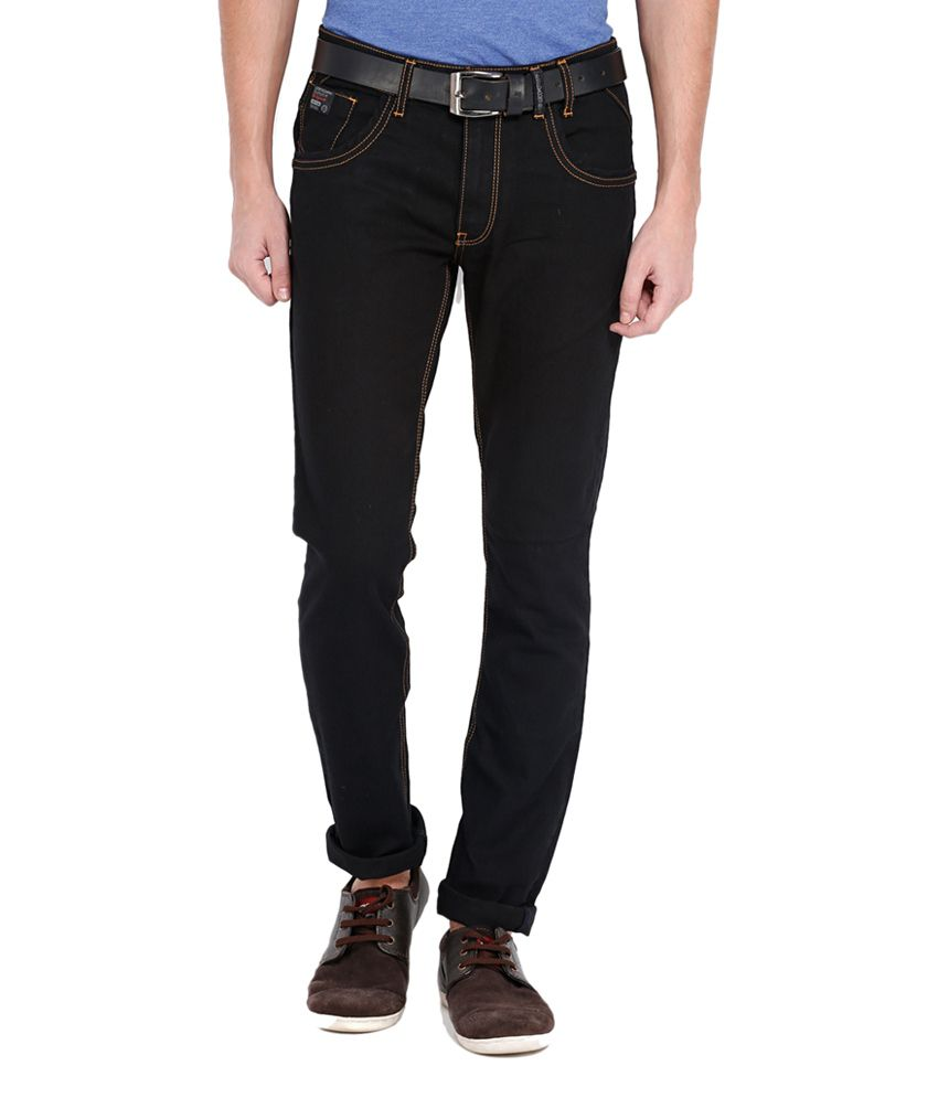 Locomotive Black Slim Fit Cotton Blend Jeans
