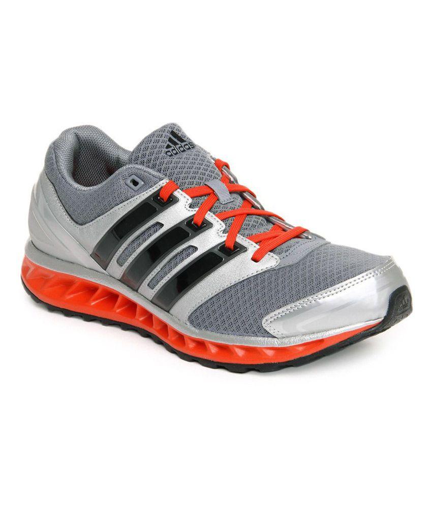 Adidas gris y naranja corriendo zapatos deportivos (Falcon Elite 3M) Comprar