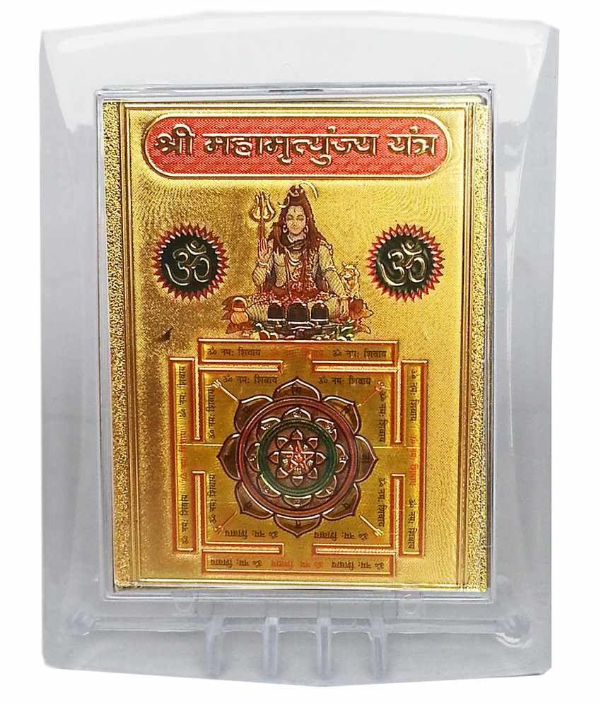 Gold Art 4 U Maha Mirtunjay Gold Foil Religious Idol