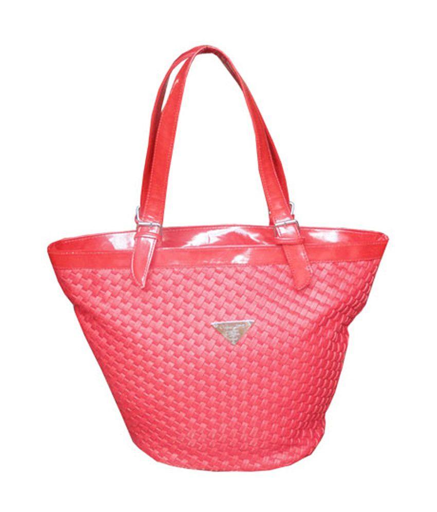 Kreative Red Zip Closure Shoulder Bag