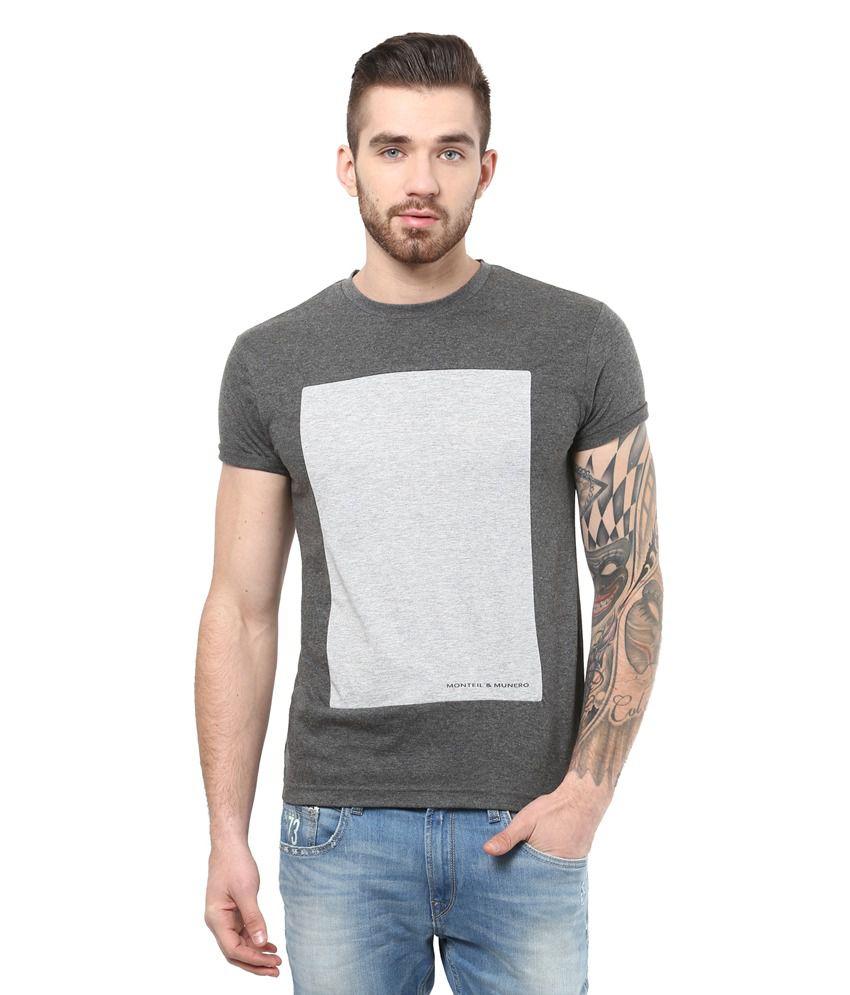 Monteil & Munero D.Grey Cotton Half Sleeve T-shirt