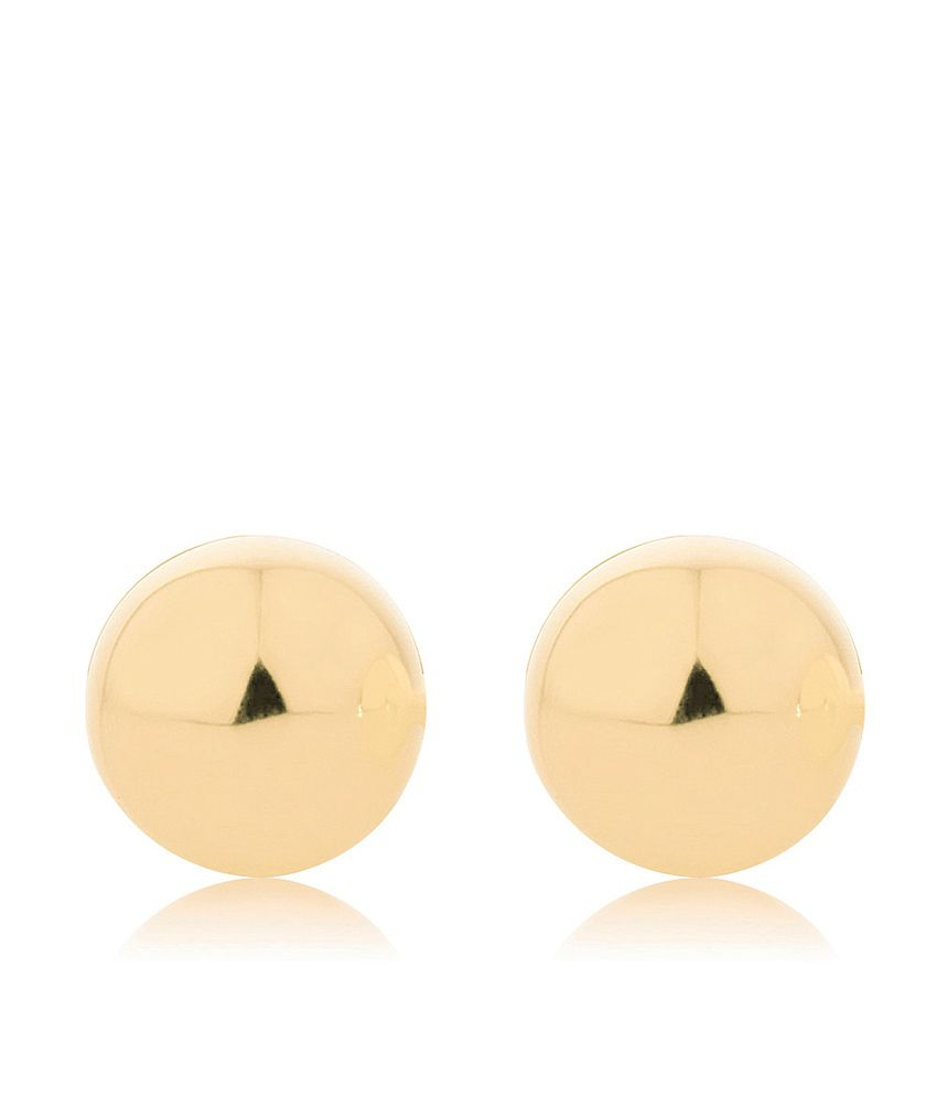 Aiza Certified Real Diamond Hallmarked Charm 3d Stud Beautiful Gold Earrings