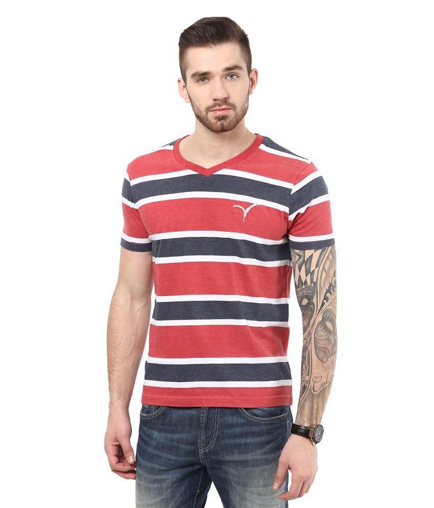 Monteil & Munero ST. Red Cotton Half Sleeve T-shirt