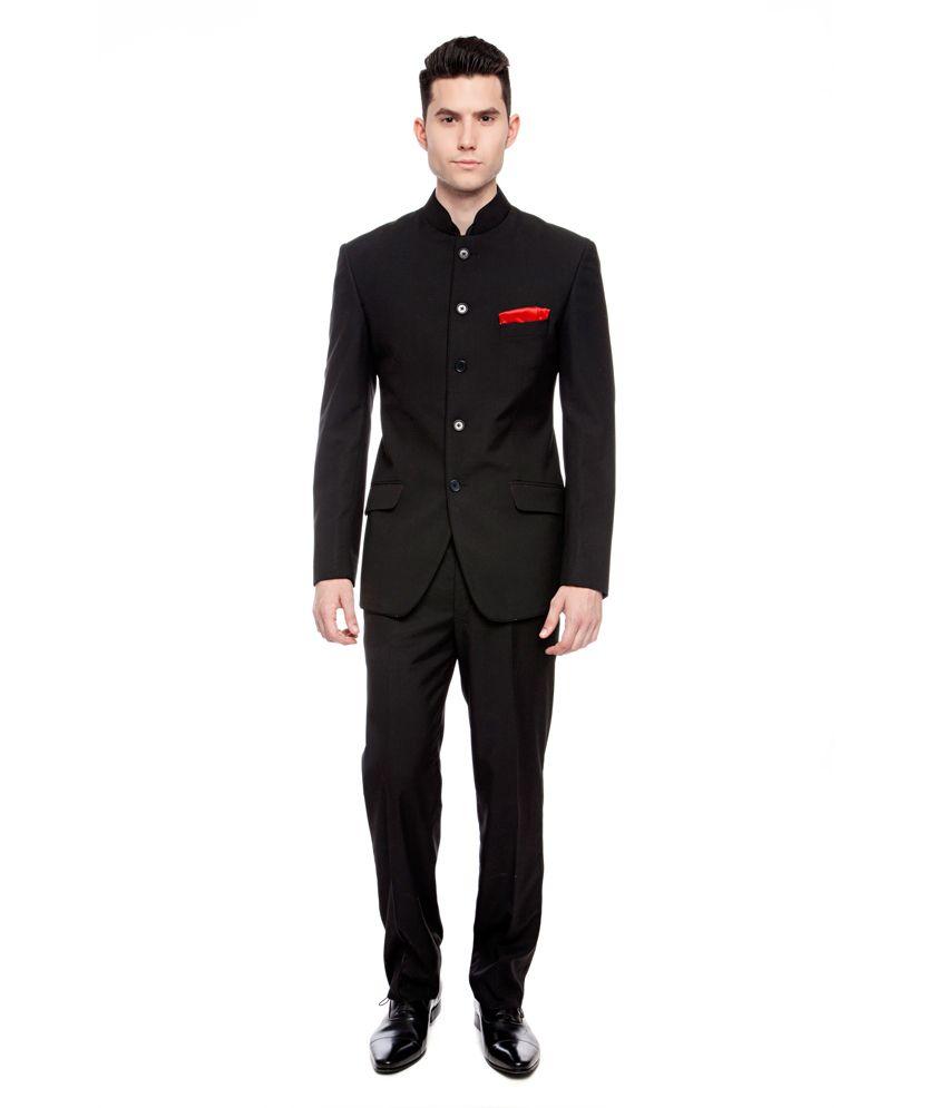 Brahaan BLUE TAG Black Bandhgala Suits