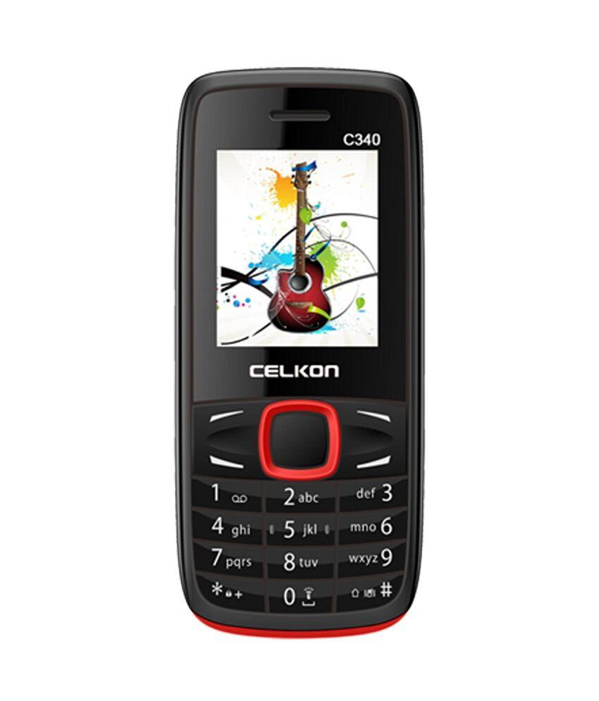 Celkon C340 Dual Sim Mobile Phone - Black & Red