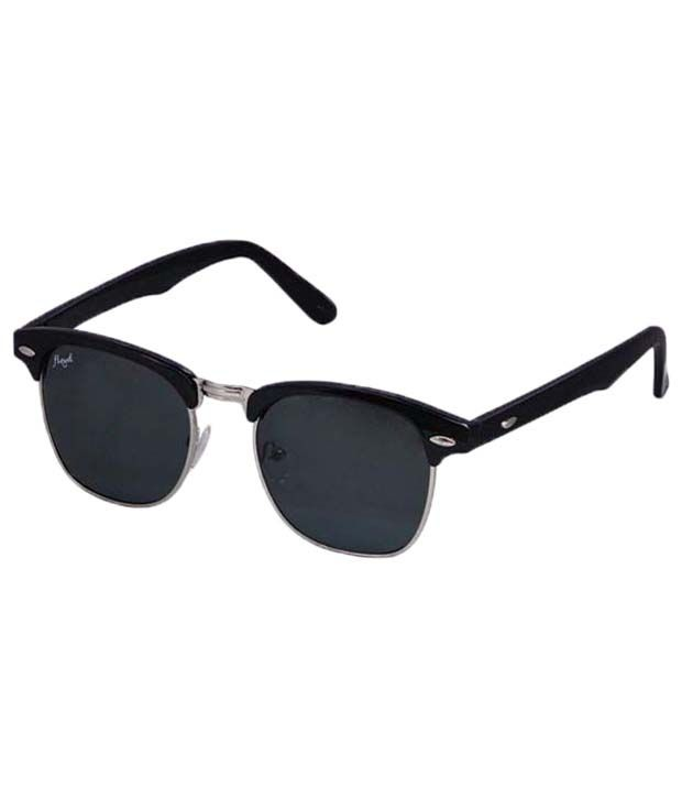 a22215b54d Floyd Silver   Black Unisex Clubmaster Sunglasses - Buy Floyd Silver    Black Unisex Clubmaster Sunglasses Online at Low Price - Snapdeal