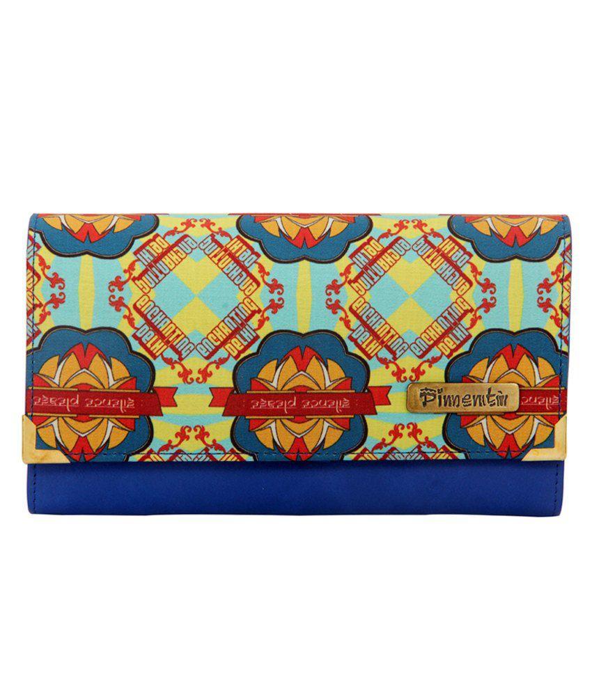 Pimento Blue Designer Enchanting Delhi Print Wallet