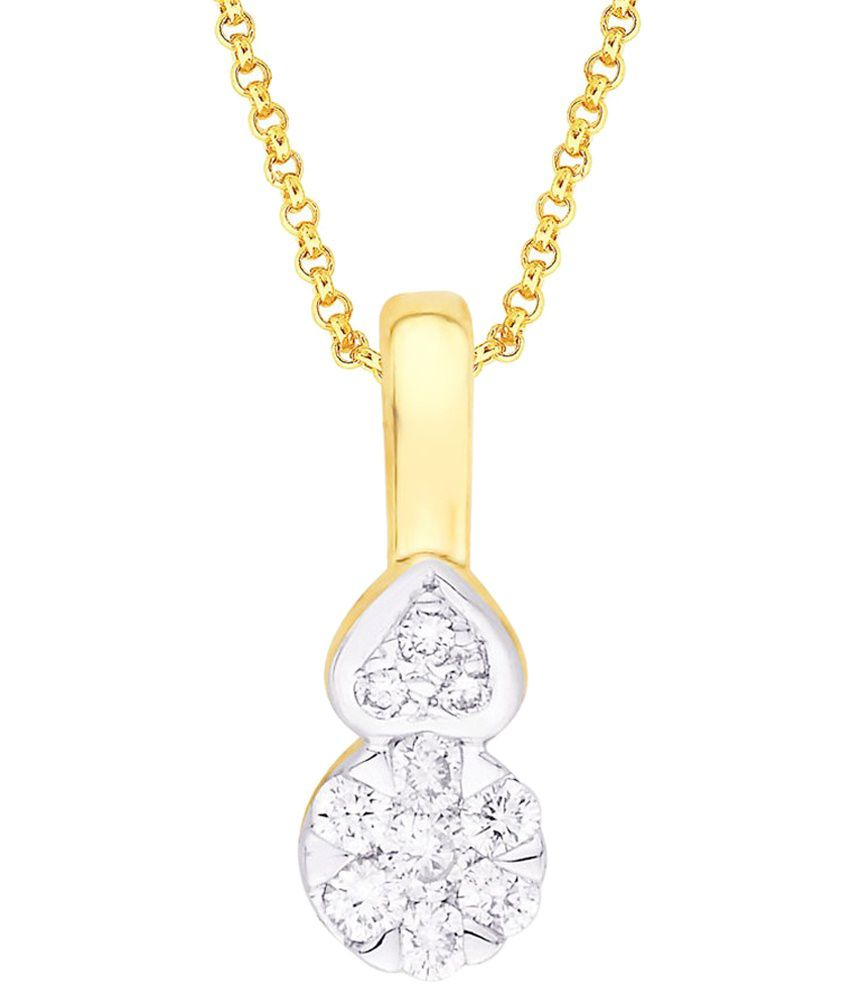 D'damas Contemporary 18K Gold Diamond Pendant: Buy D'damas