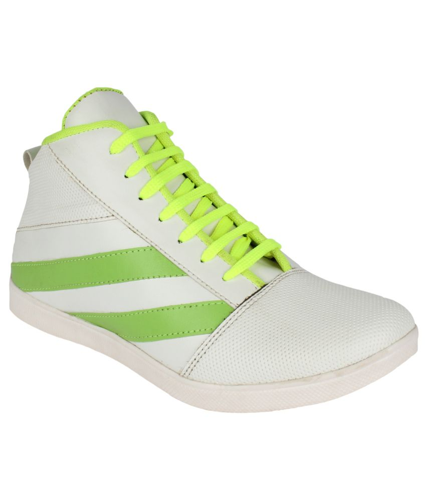 San Vertino White Synthetic Leather Boots For Men