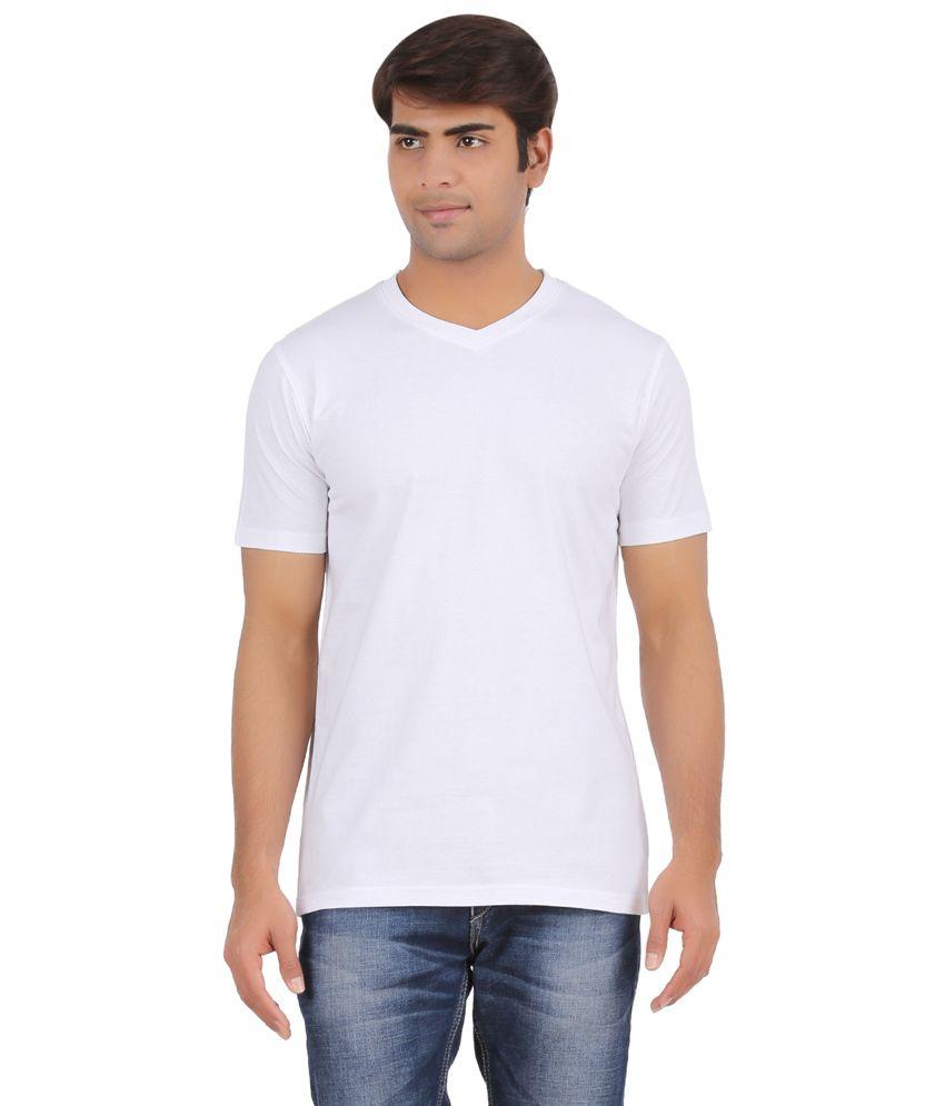 Raahi White Round Neck T-shirt