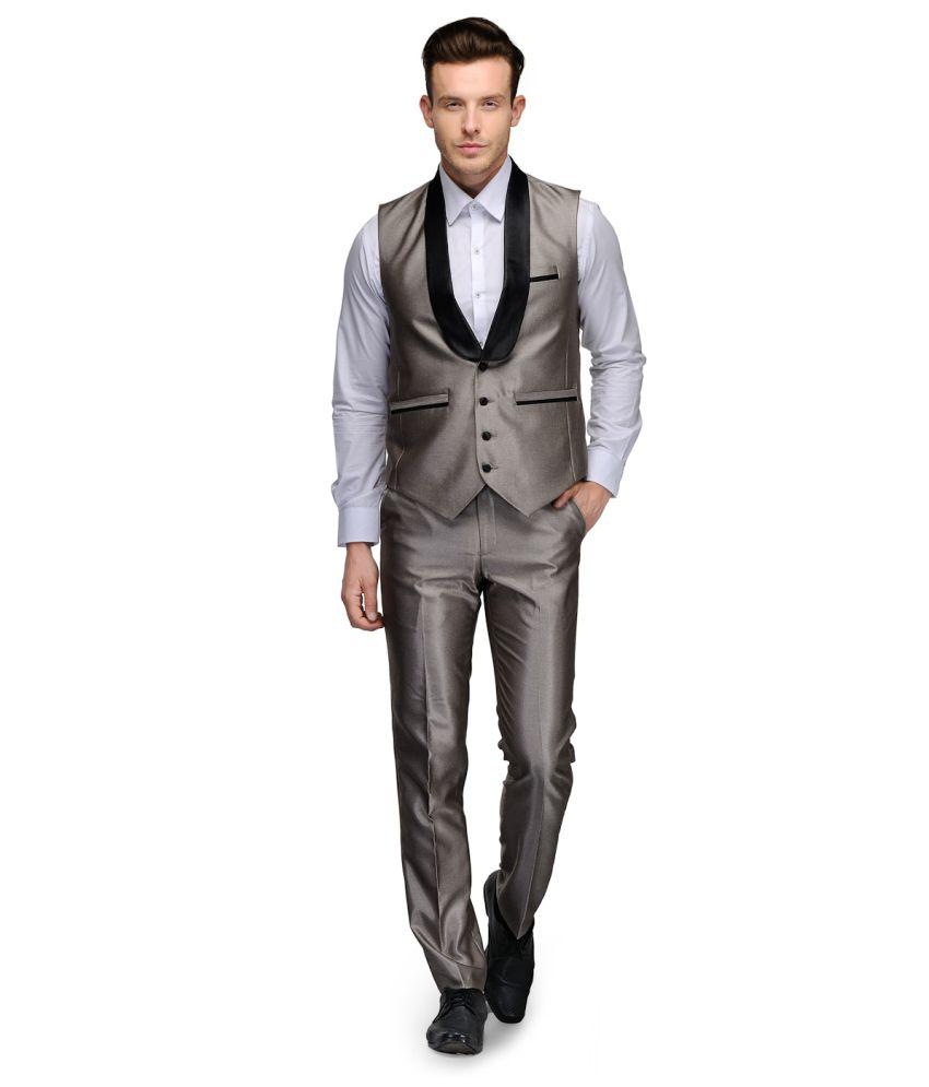 Platinum Studio Brown Rayon Suits