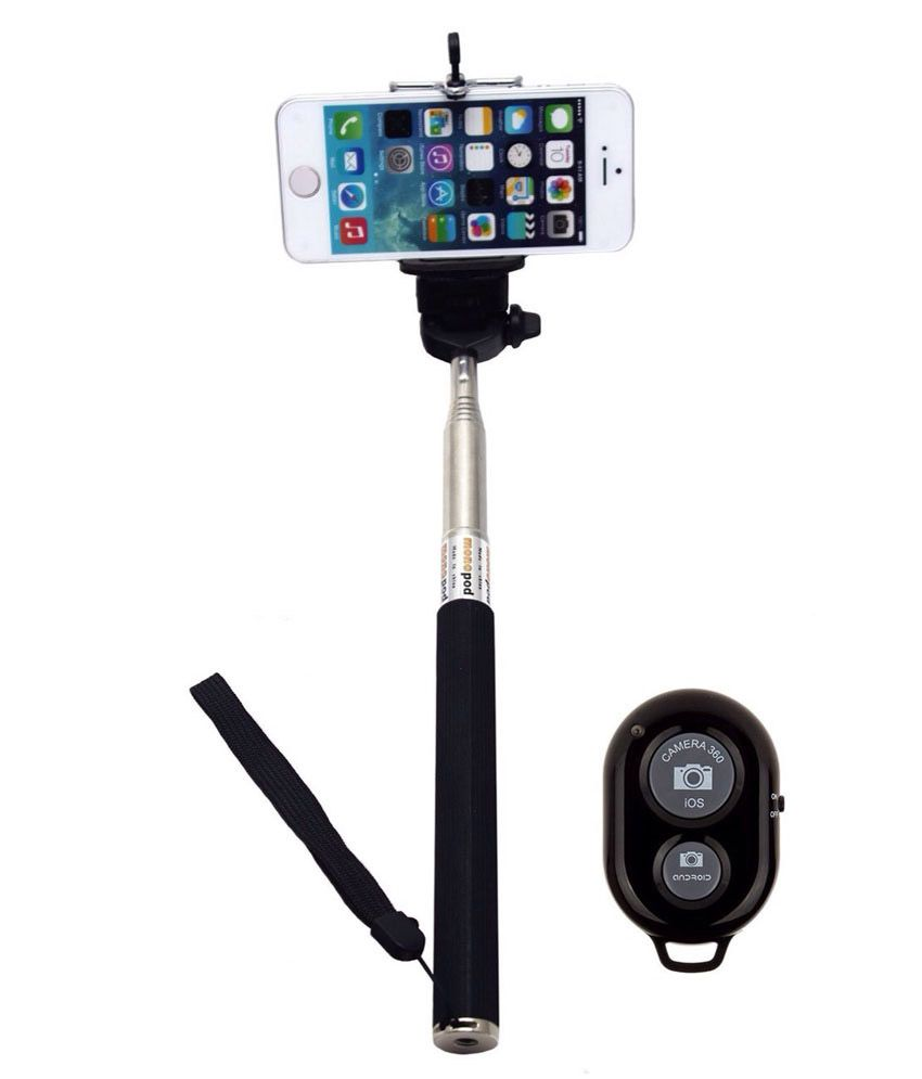 3394a1492ff642 City Shop Selfie Stick With Bluetooth Remote Monopod - Selfie Sticks &  Accessories Online at Low Prices   Snapdeal India