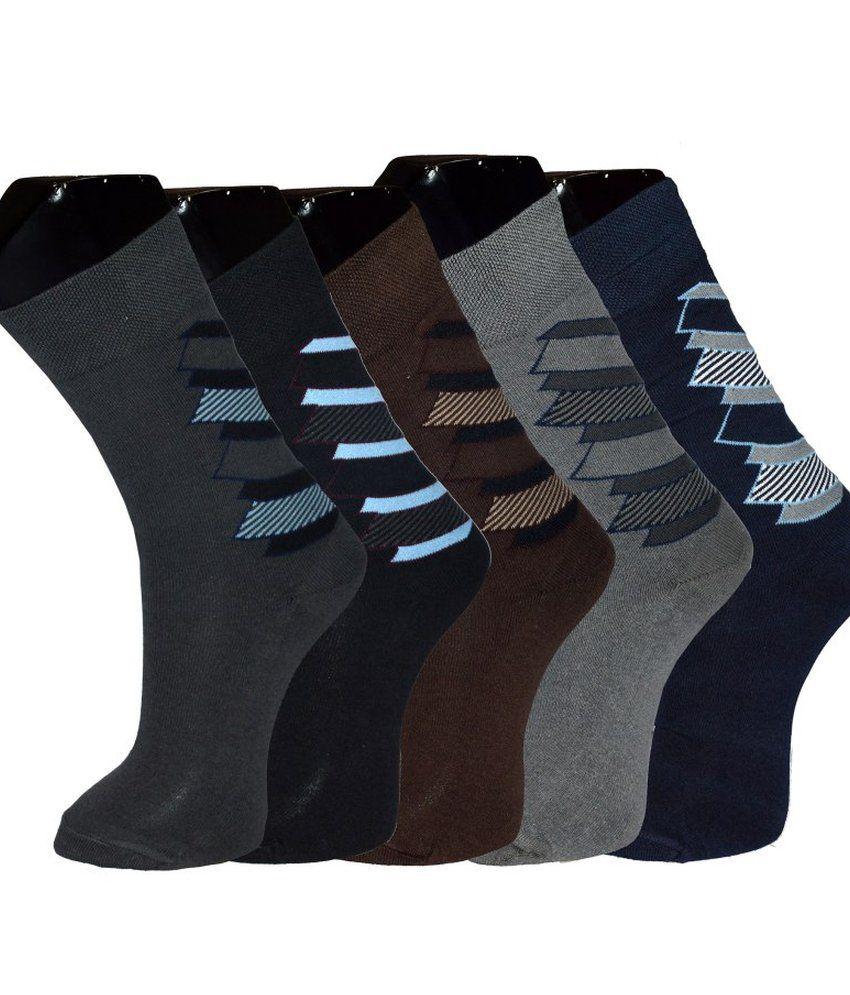 Grace Cotton Full Length Socks 5 Pair Pack