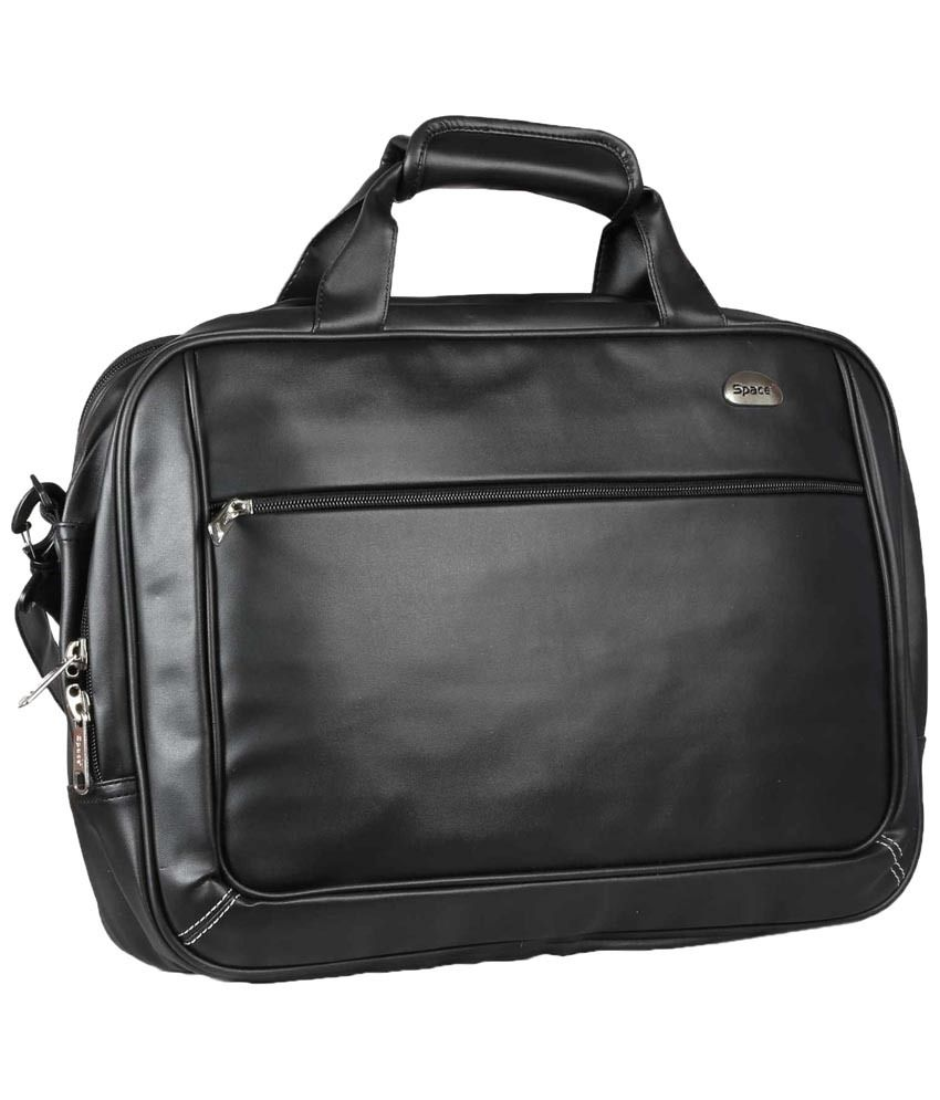 Space LTB 101 PU Black Laptop Bag