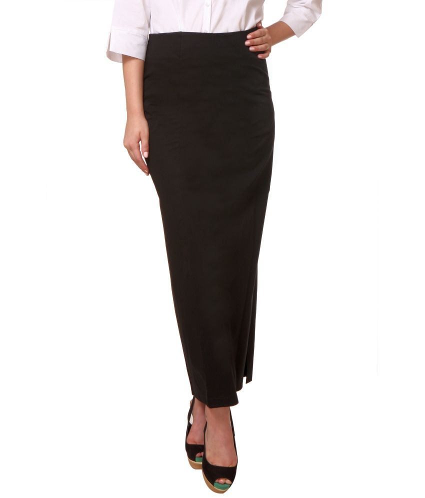 Buy Zoysia Black Formal Corporate Wear Long Straight Skirt Online ...