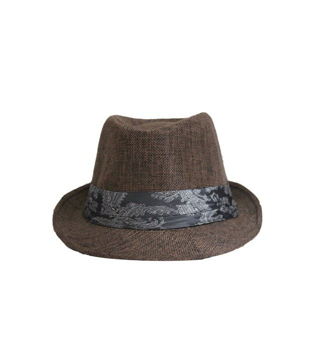 Narkha Brown Fedora Hat For Men