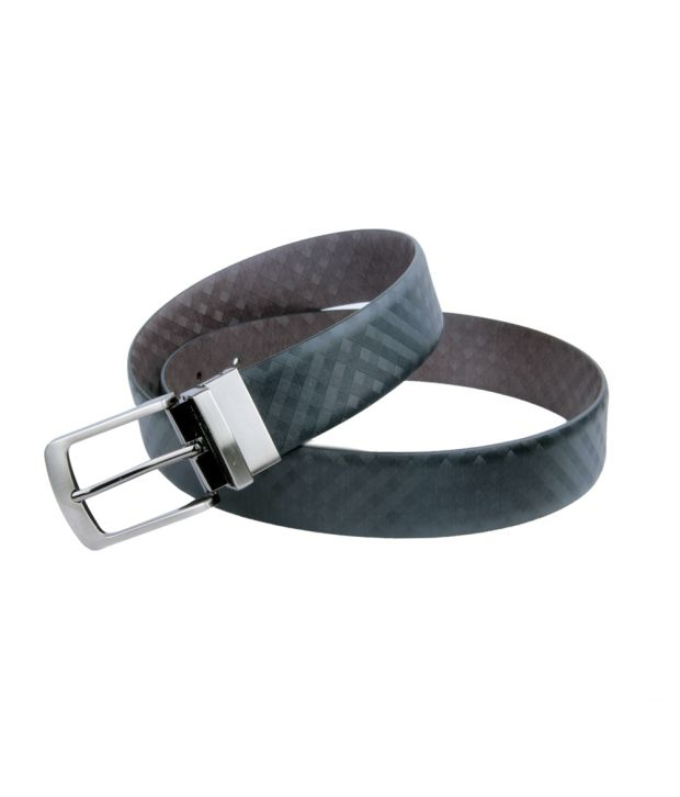 Kiko Bazar Black & Brown Formal Reversible Italian Leather Belt