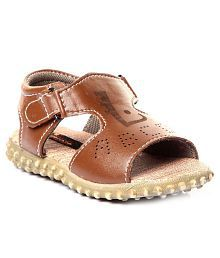 Trilokani Brown Sandals For Kids