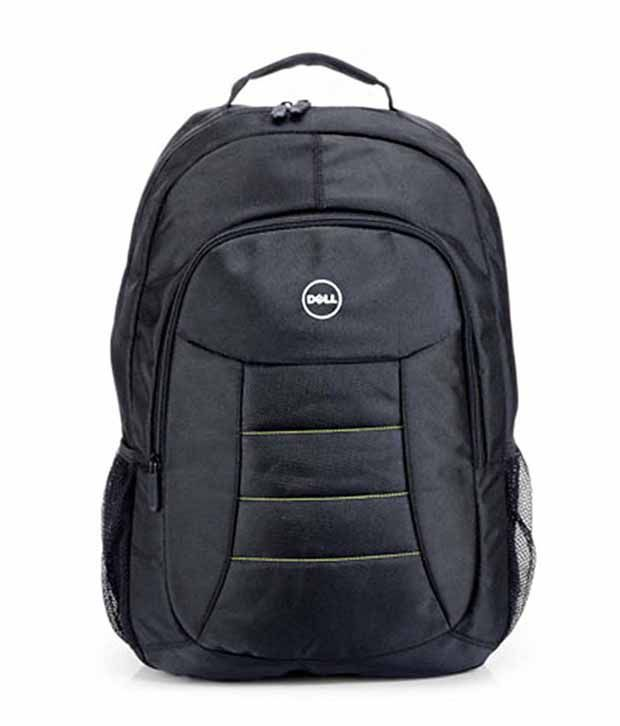 Dell Black Polyester Laptop Bags school bag Office Bag For Men  amp; Women Backpack  15.6 Inch Carry Bag Shoulder Bag