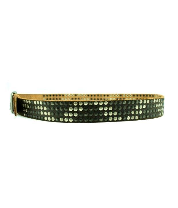 Lapalma Black Leather Pin Buckle Belt