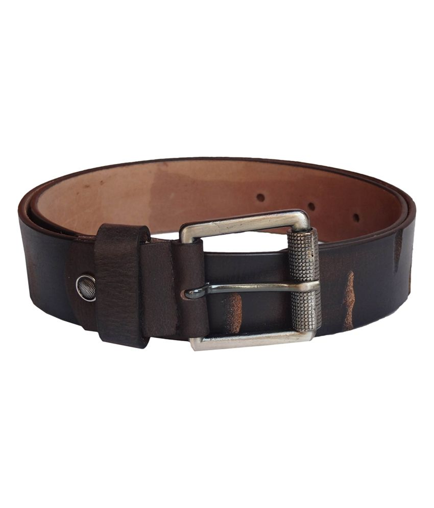 eXcorio Brown Leather Casual Belt