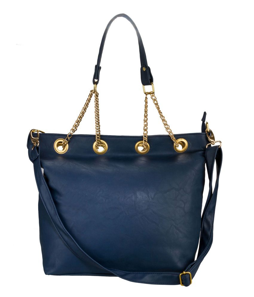 Fashion Knockout Designer Chain Blue College Bag