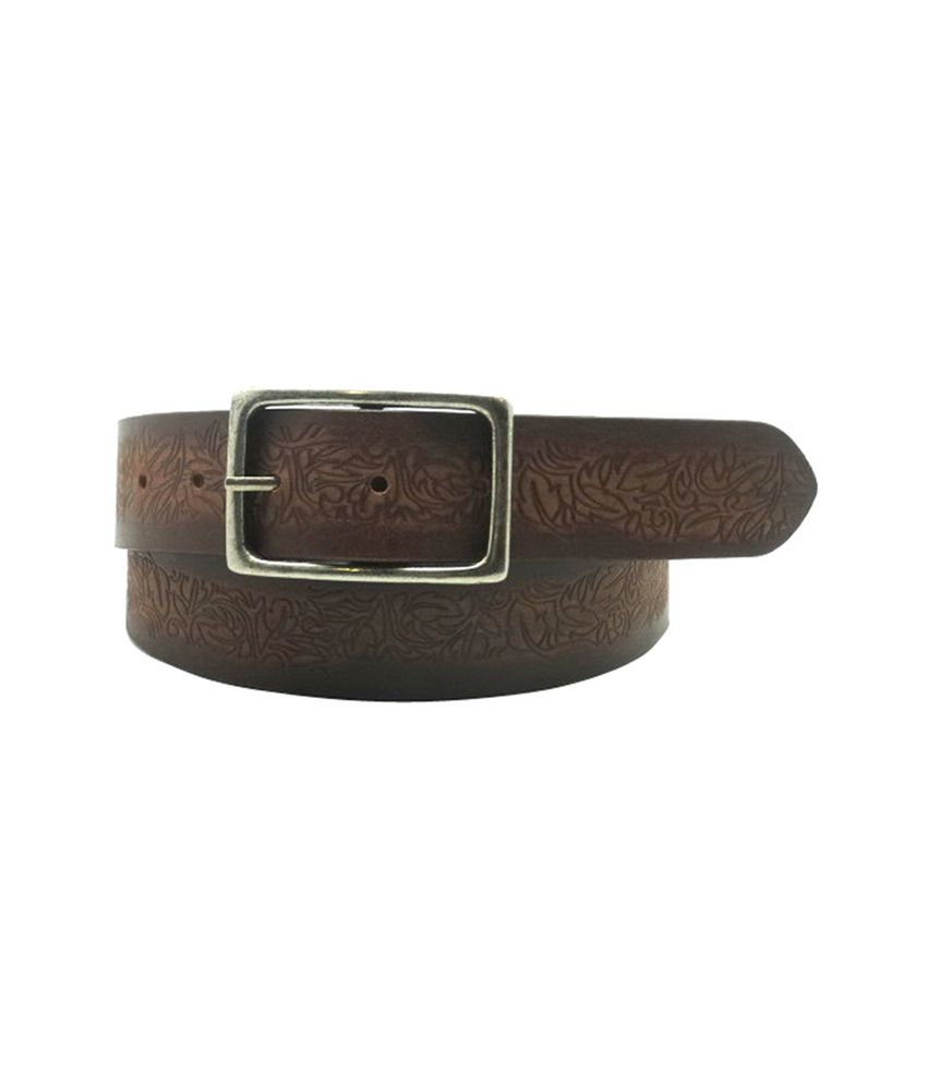 Urban Vintage Lapalma Brown Classic Leather Belt