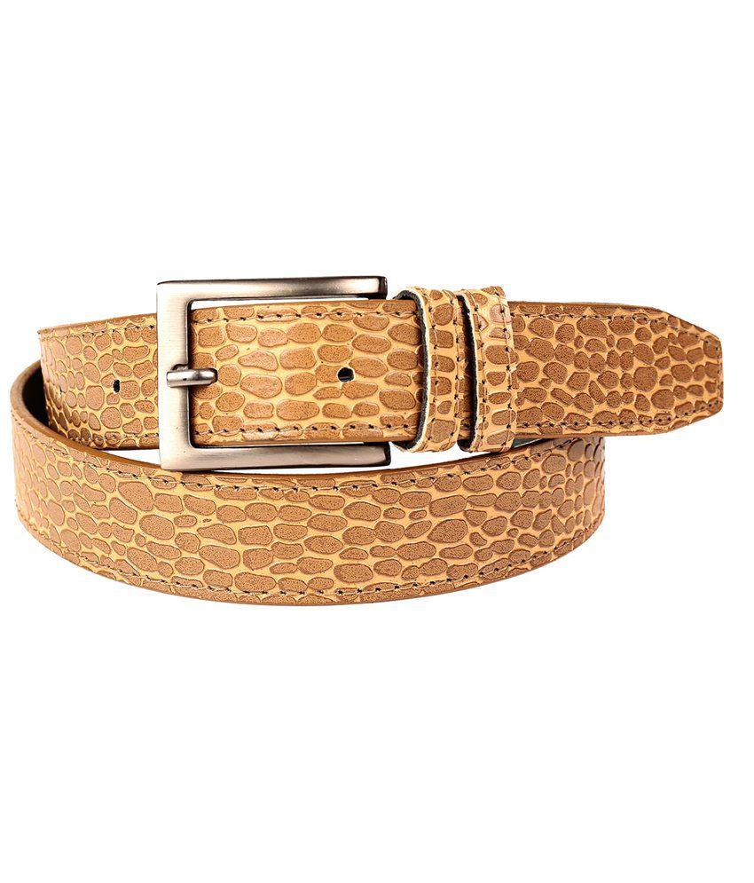 Fedrigo Wonderful Combo Of Tan Croco Belt & Black Wallet