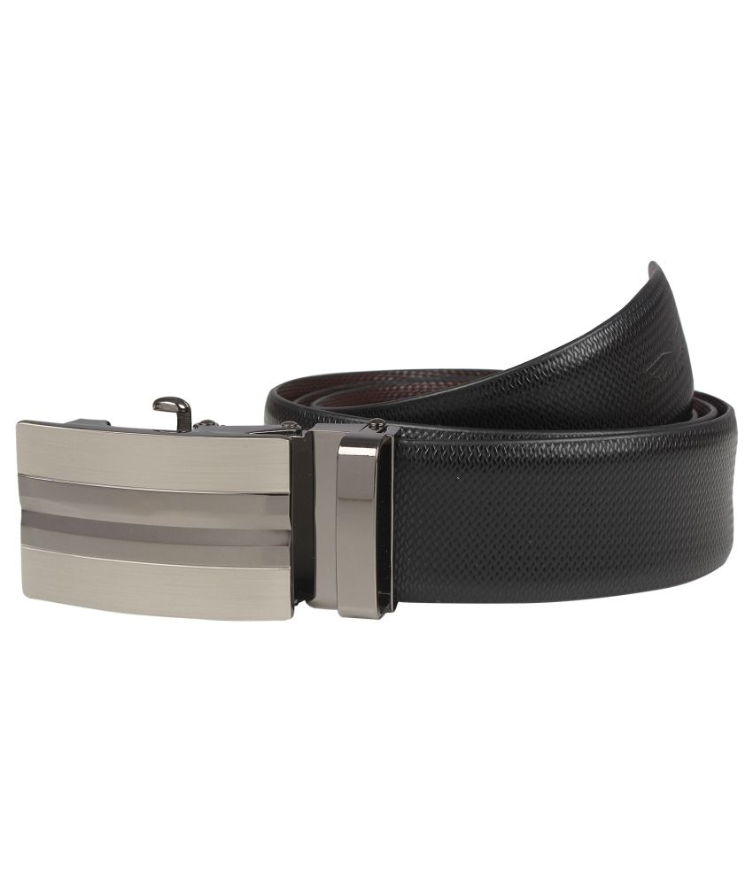 Park Avenue Black Leather Belt For Men