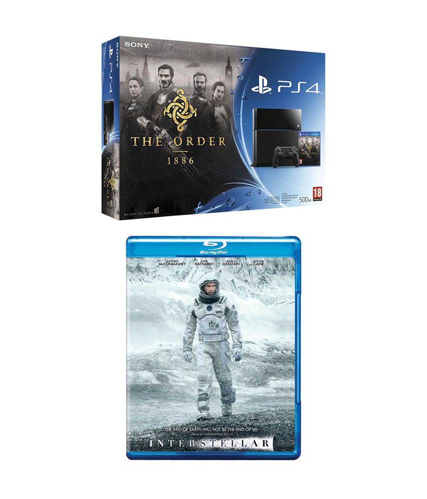 Sony Playstation 4 (PS4) 500 GB with Order 1886 Bundle & Interstellar Bluray