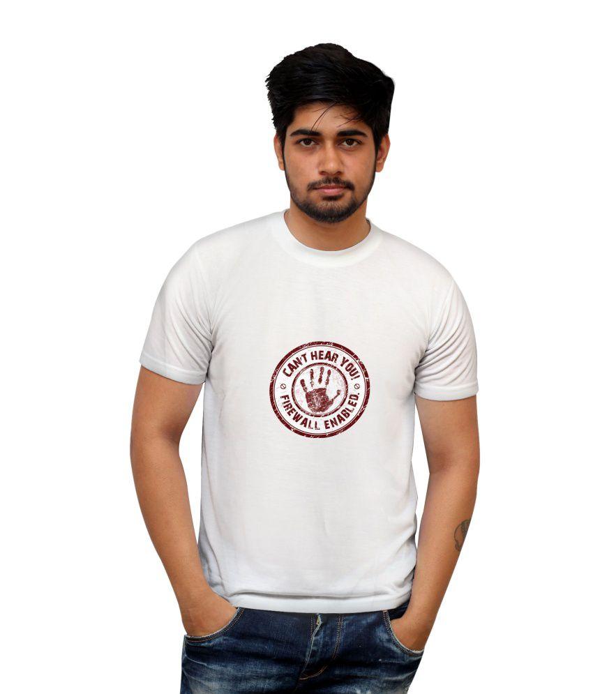 PosterGuy White Cotton Blend T Shirt For Men