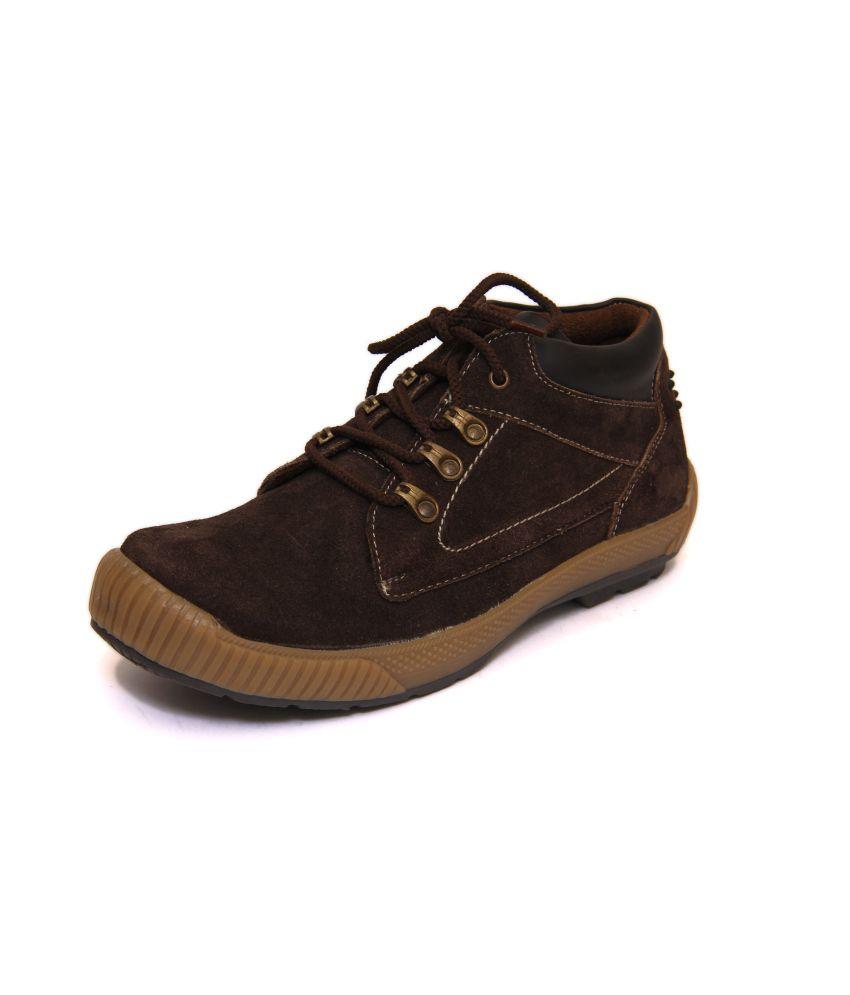 KIK Brown Faux Leather Boot For Men