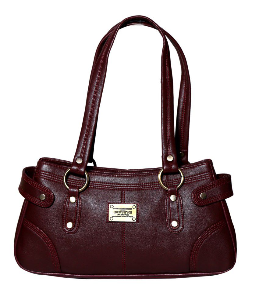 Naaz Bag Collection Maroon Non Leather Shoulder Bag Women