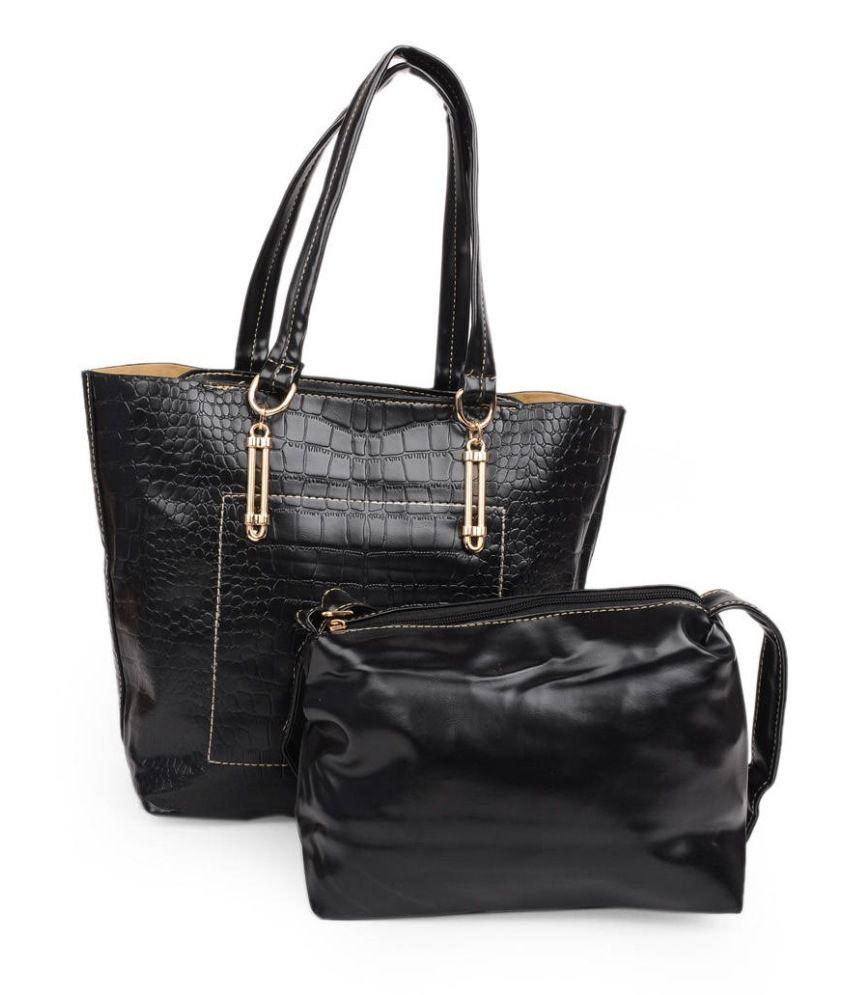 Adisa Black P.U. Handbag For Women