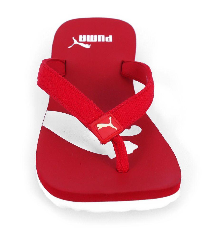 9a927929f960 Puma Atlanta Red Flip Flops Price in India- Buy Puma Atlanta Red ...