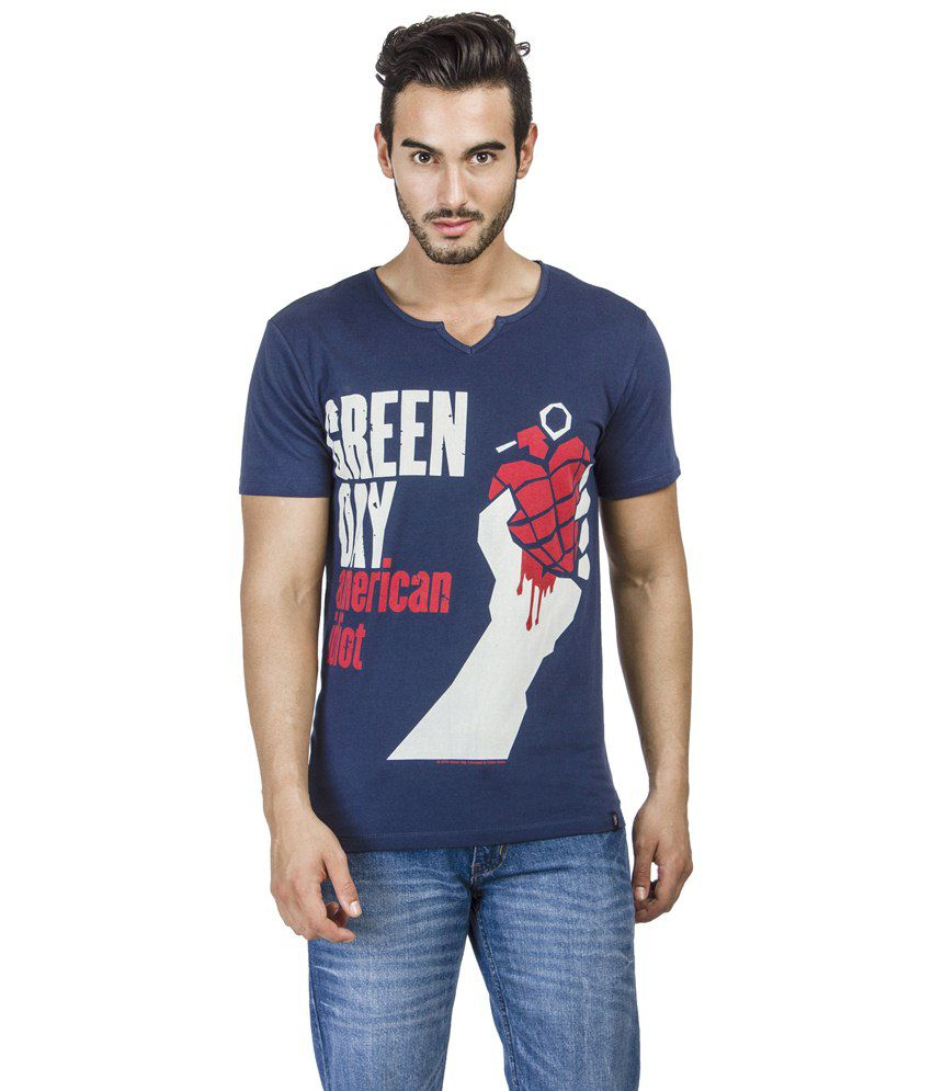 Green Day Black Graphic T-shirt For Men