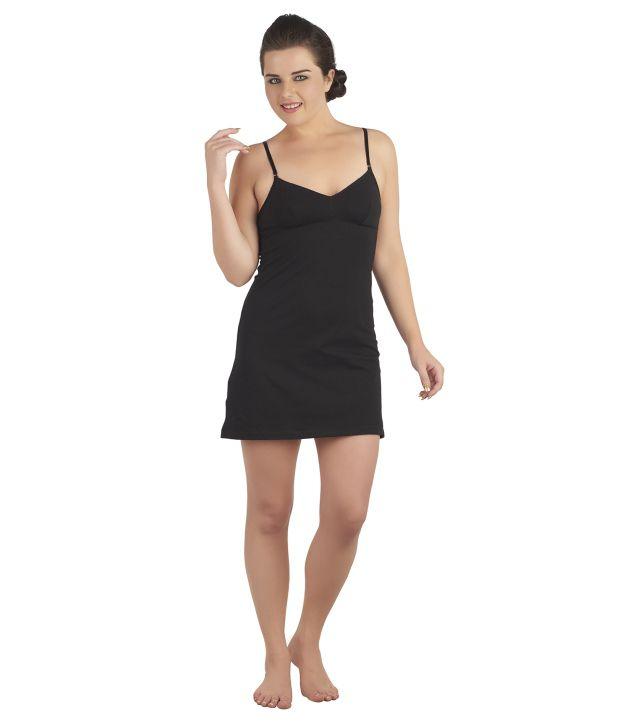 Soie Black Cotton Spandex Camisoles