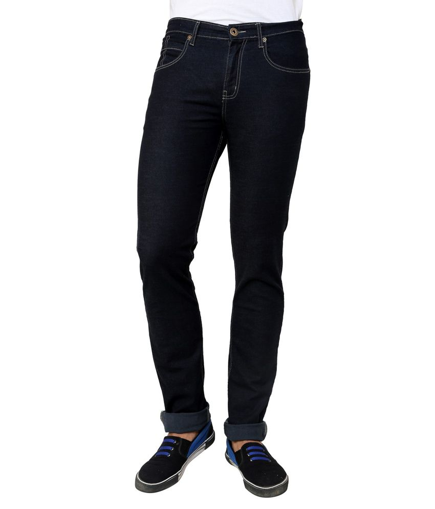 Cotton County Premium Navy Cotton Tapered Fit Denim Trouser