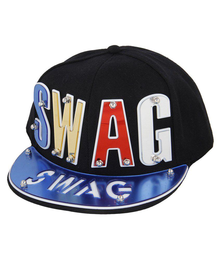 Eccellente Black Hiphop Swag Cap - Buy Online   Rs.  88488cf3fbd