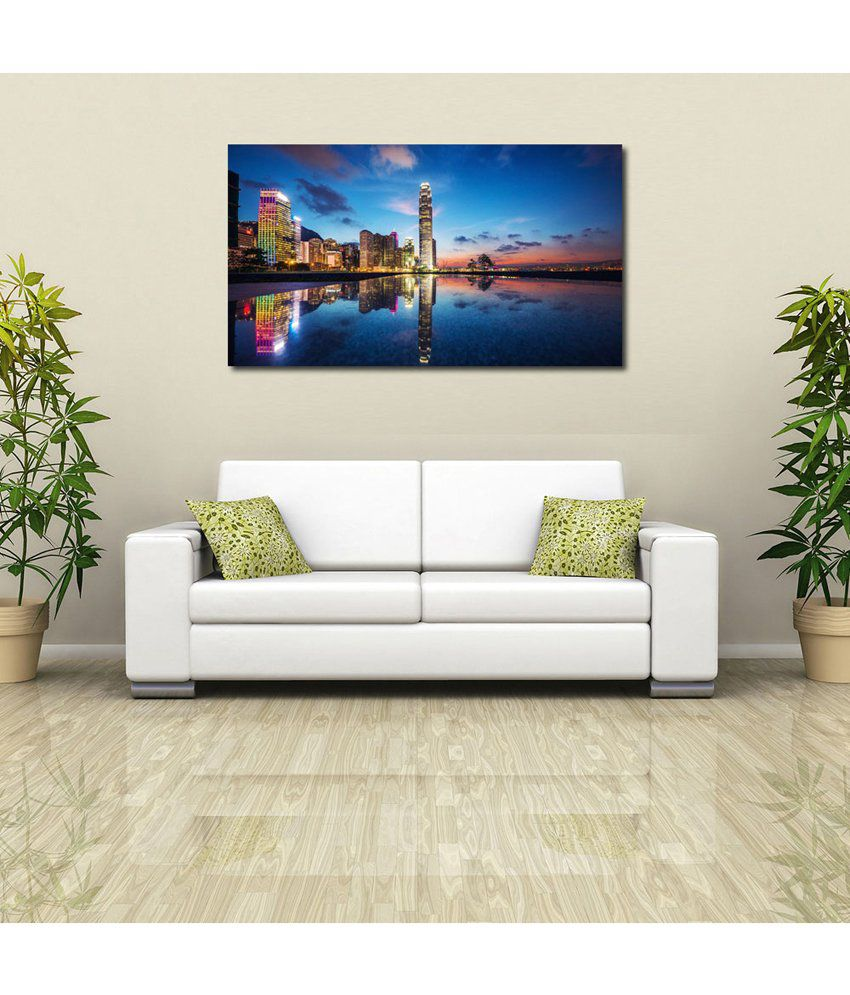 999Store Dubai Towers Printed Modern Wall Art Painting - Large Size
