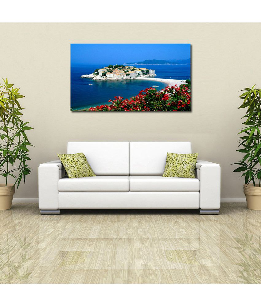 999Store Sea Resort Printed Modern Wall Art Painting - Large Size
