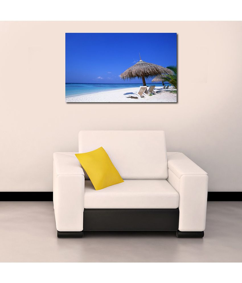 999Store Sea Shore Time Printed Modern Wall Art Painting - Large Size