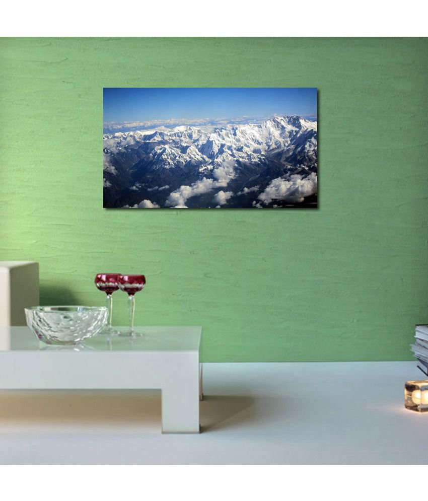 999Store Snow Mountains Printed Modern Wall Art Painting - Large Size