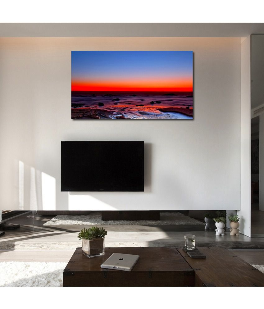999Store Sunset Printed Modern Wall Art Painting - Large Size