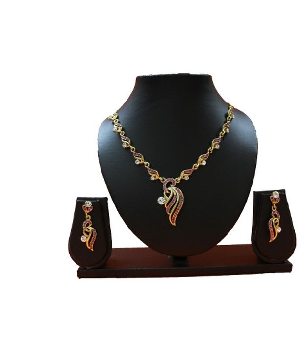 Jinaam White Contemporary Alloy Necklace Set