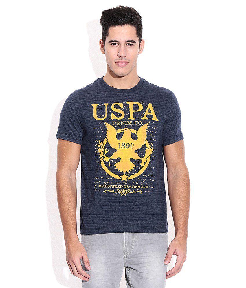 U.S. Polo Assn. Blue Round Neck T Shirt